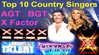 Video Top 10 Amazing Country Singers (AGT) (BGT) Best Got Talent & X Factor Auditions Worldwide MP3, 3GP, MP4, WEBM, AVI, FLV Januari 2019