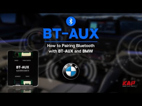 How to pairing BMW Bluetooth AUX (BT-AUX) G30 2018