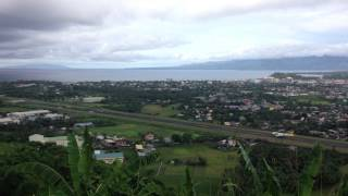 Daraga Philippines  city pictures gallery : Overlooking airplane takeoff from Ligñon Hill, Daraga, Albay, Philippines