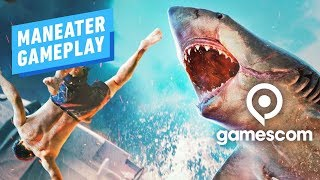 9 Minutes of Maneater: Pre-Alpha Shark Evisceration Gameplay - Gamescom 2019 by IGN