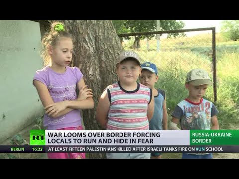 'I'm very scared, crying': Ukrainian conflict scrapes into Russian border