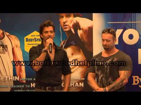 hrithik - Hrithik Roshan launched a book titled The Bodybuilding.com: Guide to Your Best Body by Kris Gethin in Mumbai. The Actor said who has been working on his phys...