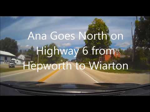 Ana Vukovic drives from Hepworth to Wiarton, Ontario on Highway 6