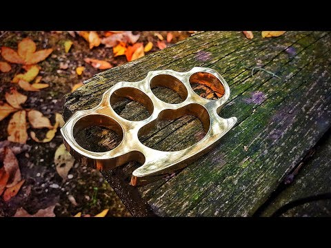 Making BRASS KNUCKLES (Knuckle Dusters) Using Stock Removal