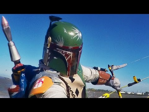 Boba Fett Kite Surfing (Star Wars Day Tribute)