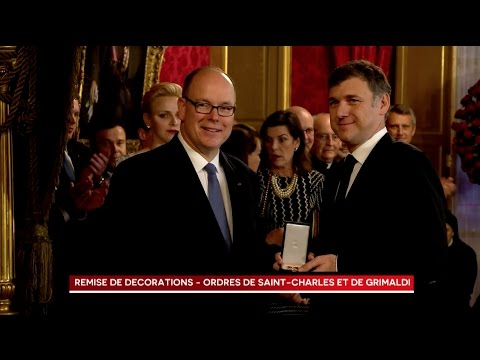 Presentation of Medals of the Order of Saint Charles and the Order of the Grimaldi by H.S.H. Prince Albert II