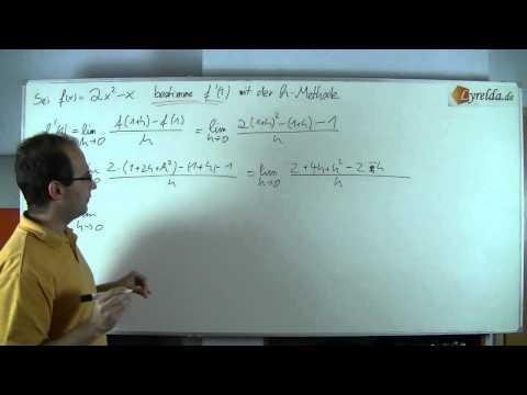 Ableitung h-Methode Lösung 1