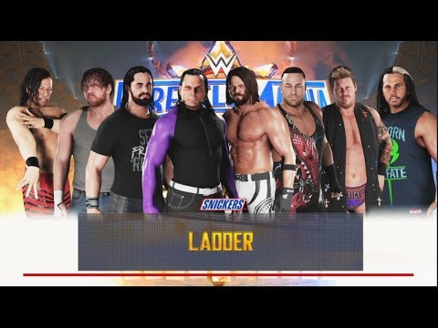WWE 2K18 - 8 Man Ladder Match--Money In The Bank -WWE-2K18- Gameplay (PS4)