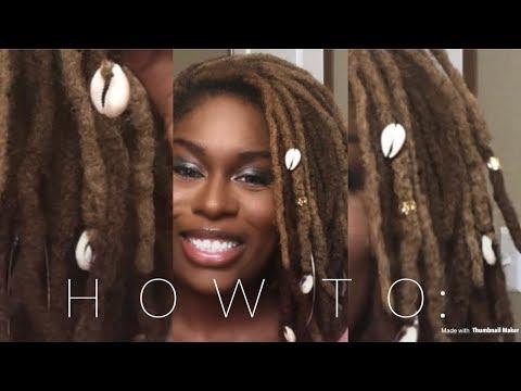 HOW TO: Put Cowry Shells On Locs
