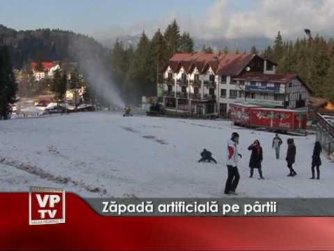 Zăpadă artificială pe pârtii