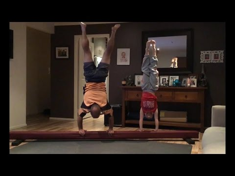 Dad Tries to Copy Daughter s Gymnastic Moves