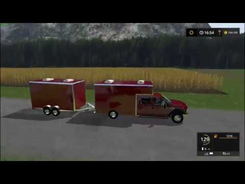 Ford F450 Utility Truck + Trailer v1.0