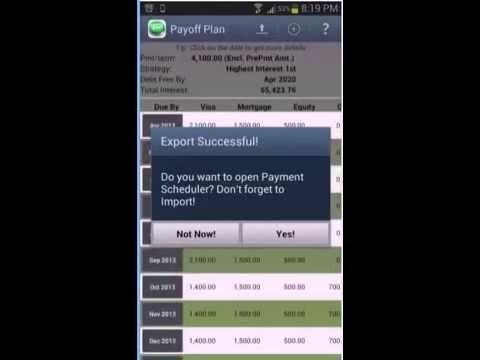 Video of Debt Payoff Planner