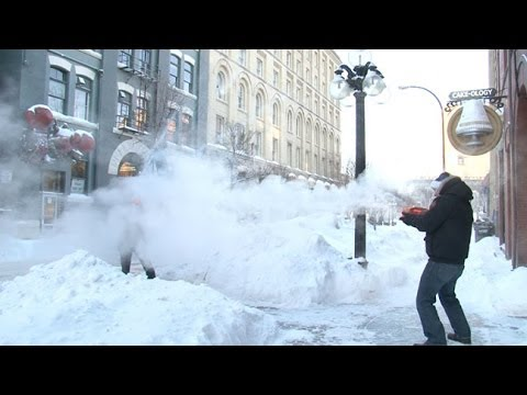 Winnipeg winter water gun fight