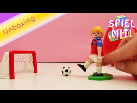 Playmobil Fußball Deutsch –Fußballtraining Torschuss mit der 7 von Manu – mit Tor und Fußball