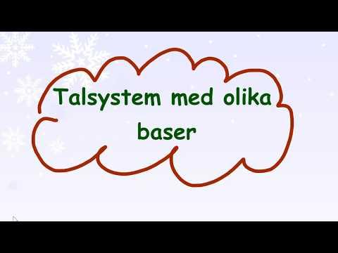 2.1.4 Talsystem med olika baser