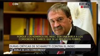 Duras críticas de Schiaretti contra el INDEC