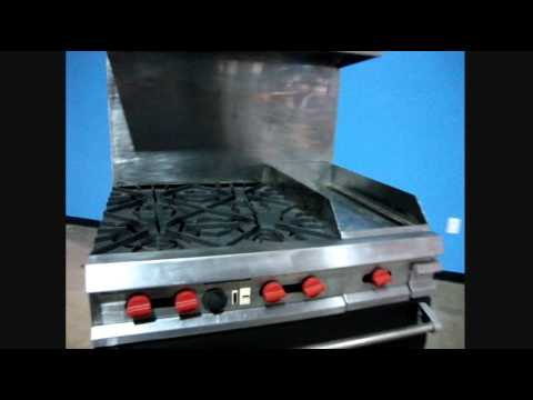 Vulcan 4 Burners Stove Gas Range Convection Oven