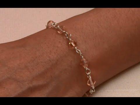 Wirewrapped Bracelet Handmade Jewelry by Mariel