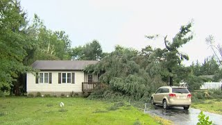 """The National Weather Service says a tornado hit a Maryland community near Stevensville in Queen Anne's County at about 1:30 a.m. Monday. Officials say winds reached 125 mph. CBS Baltimore's Mike Hellgren reports.Subscribe to the """"CBSN"""" Channel HERE: http://bit.ly/1Re2MgSWatch """"CBSN"""" live HERE: http://cbsn.ws/1PlLpZ7Follow """"CBSN"""" on Instagram HERE: http://bit.ly/1PO0dkxLike """"CBSN"""" on Facebook HERE: http://on.fb.me/1o3Deb4Follow """"CBSN"""" on Twitter HERE: http://bit.ly/1V4qhIuGet the latest news and best in original reporting from CBS News delivered to your inbox. Subscribe to newsletters HERE: http://cbsn.ws/1RqHw7TGet your news on the go! Download CBS News mobile apps HERE: http://cbsn.ws/1Xb1WC8Get new episodes of shows you love across devices the next day, stream local news live, and watch full seasons of CBS fan favorites anytime, anywhere with CBS All Access. Try it free! http://bit.ly/1OQA29B---CBSN is the first digital streaming news network that will allow Internet-connected consumers to watch live, anchored news coverage on their connected TV and other devices. At launch, the network is available 24/7 and makes all of the resources of CBS News available directly on digital platforms with live, anchored coverage 15 hours each weekday. CBSN. Always On."""