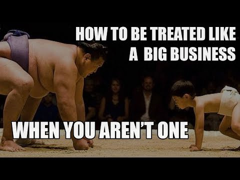 Episode 060: How to be treated like a big business when you are not one Podcast