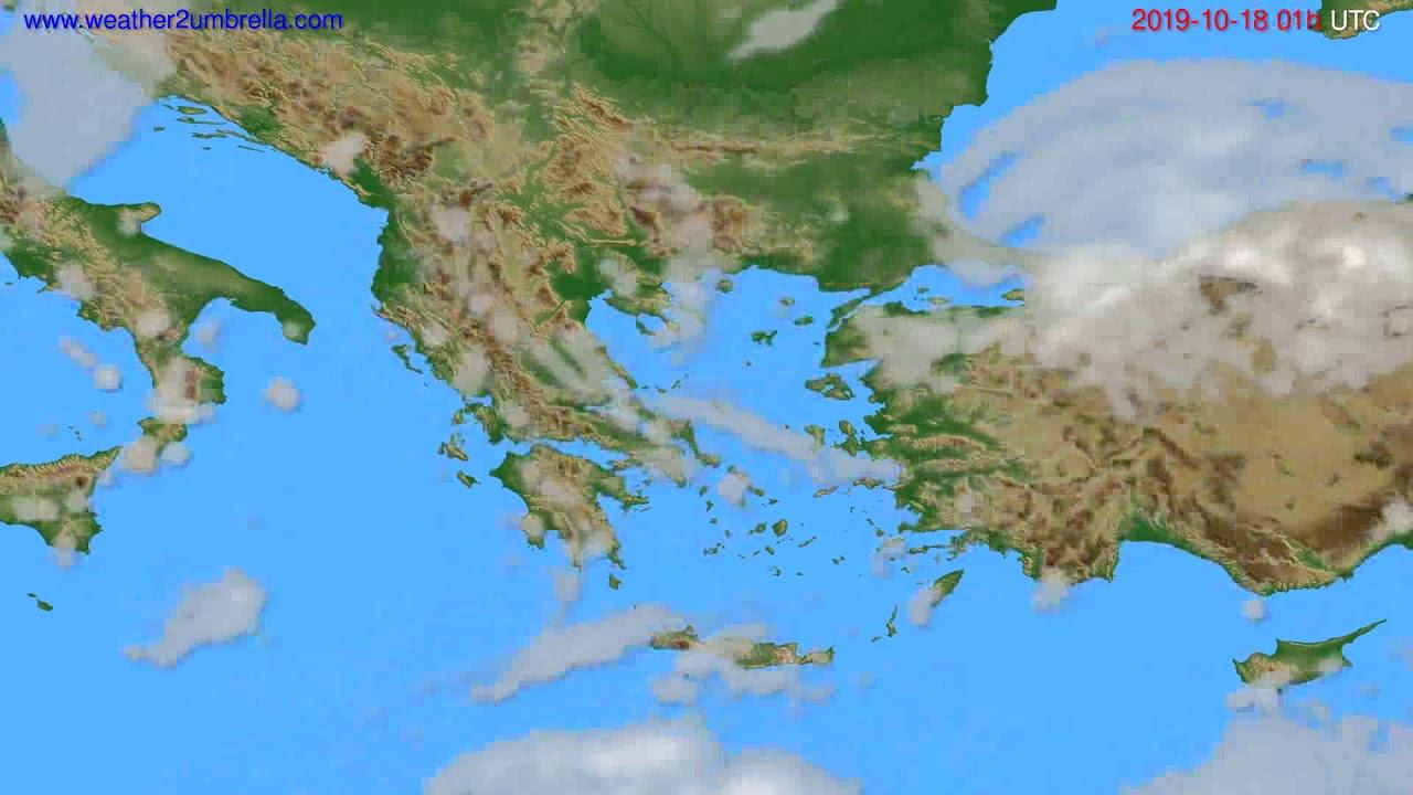 Cloud forecast Greece // modelrun: 00h UTC 2019-10-17