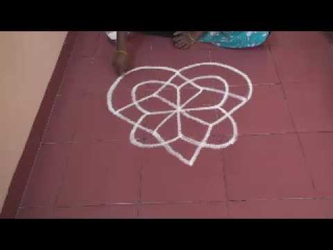 Rangoli using lines