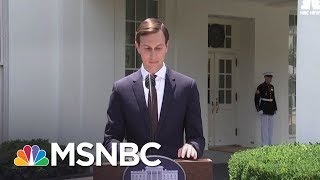 Jared Kushner makes a firm statement regarding his association with the Russian government in his business affairs and role in public office.» Subscribe to MSNBC: http://on.msnbc.com/SubscribeTomsnbcAbout: MSNBC is the premier destination for in-depth analysis of daily headlines, insightful political commentary and informed perspectives. Reaching more than 95 million households worldwide, MSNBC offers a full schedule of live news coverage, political opinions and award-winning documentary programming -- 24 hours a day, 7 days a week.Connect with MSNBC OnlineVisit msnbc.com: http://on.msnbc.com/ReadmsnbcFind MSNBC on Facebook: http://on.msnbc.com/LikemsnbcFollow MSNBC on Twitter: http://on.msnbc.com/FollowmsnbcFollow MSNBC on Google+: http://on.msnbc.com/PlusmsnbcFollow MSNBC on Instagram: http://on.msnbc.com/InstamsnbcFollow MSNBC on Tumblr: http://on.msnbc.com/LeanWithmsnbcJared Kushner: 'I Did Not Collude With Russia'  MSNBC