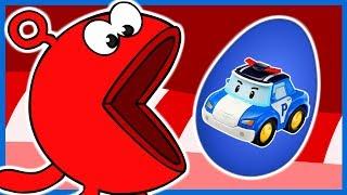 """Изучаем цвета весело! Пакман ест шоколадные яйца с персонажами мультфильма """"Робокар Поли"""" (""""Robocar Poli"""", """"로보카 폴리""""). Learn Colors With Pacman for Kids, Children and Toddlers. Robocar Poli, 로보카 폴리.Победители конкурса:Диана Якунина - блок яиц """"Энгри Бердз"""" Кристина Савельева - блок яиц """"Энгри Бердз"""" Дмитрий Крупинский - блок яиц """"Винни Пух"""" Виктория Ермолова - блок яиц """"Гапчинская"""""""