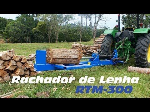 Rachador de lenha conectado ao trator RTM 300