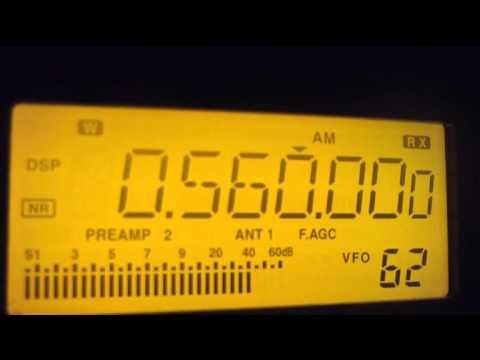 560 kHz Radio Paulista (IPDA) de Itaquaquecetuba / SP recebida em Nova Xavantina / MT a 1.430 KM