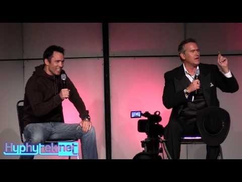 bruce_campbell - This video features the full Bruce Campbell, Denver Comic Con 2014 panel. Bruce Campbell (Evil Dead, Army of Darkness, Burn Notice) and Jeffrey Donovan (Burn...