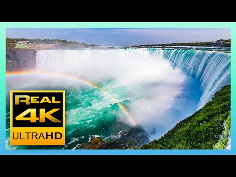 Download The Amazing Niagara Falls in 4K - Relaxing Piano Music - 4k UHD TV Screensaver HD Mp4 3GP Video and MP3