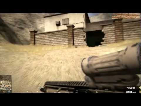 BFP4F SCAR-L Desert M145 Scope & Camo at Karkand 34-1.wmv