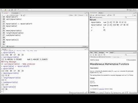 Indexing vectors