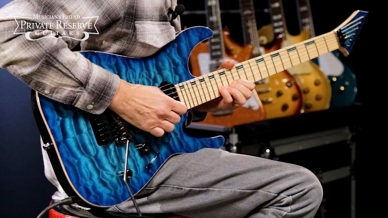 ESP See-Thru Blue M-II Custom Electric Guitar