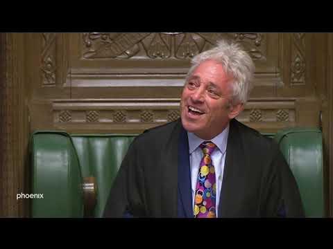 Britischer Parlamentssprecher John Bercow kündigt Rüc ...