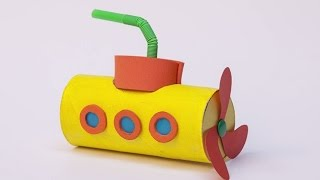 Denizaltı / Yellow Submarine made with toilet paper rolls