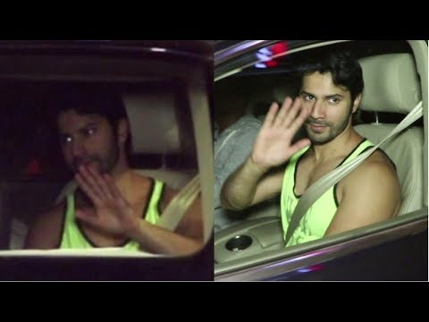 Varun Dhawan  Spotted  At Body Sculptor Gym, Juhu