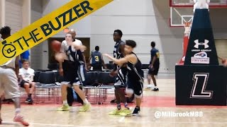 Watch this insane long-range buzzer beater by @The Buzzer
