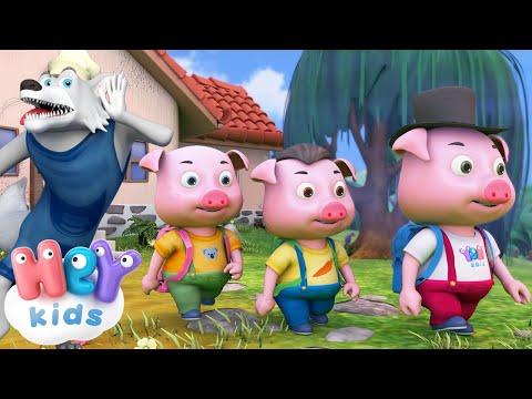 Cei Trei Purcelusi 🐷 Poveste pentru copii in romana 🐺 HeyKids - Desene animate