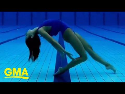 This swimmer is blowing everyone away with her incredible underwater routines l GMA Digital