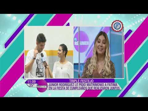 Junior Rodríguez habla sobre su futura boda con Fatima Roman | El Resumen