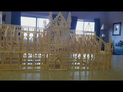 Notre-Dame Cathedral match sticks 90% complete