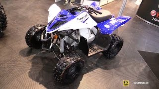 6. 2017 Yamaha Raptor 90 Sport Side by Side ATV - Walkaround - 2016 Toronto ATV Show