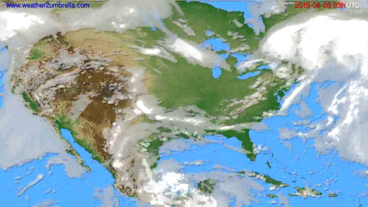 Cloud forecast USA & Canada // modelrun: 00h UTC 2019-05-31