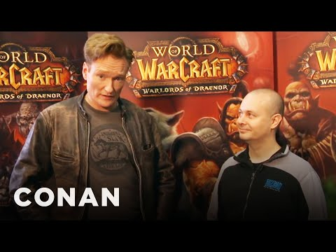 World of Warcraft - Conan provides color commentary for the championship game -- which he doesn't understand in the slightest. More CONAN @ http://teamcoco.com/video Team Coco i...