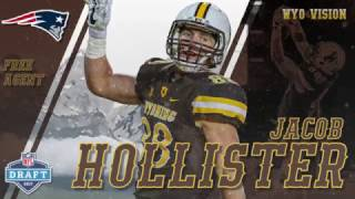 Wyoming Tight End Jacob Hollister signed a free agent deal with the New England Patriots shortly after the 2017 NFL Draft.