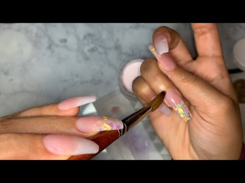 Gel nails - Watch Me Do My Nails  Acrylic Nails Tutorial