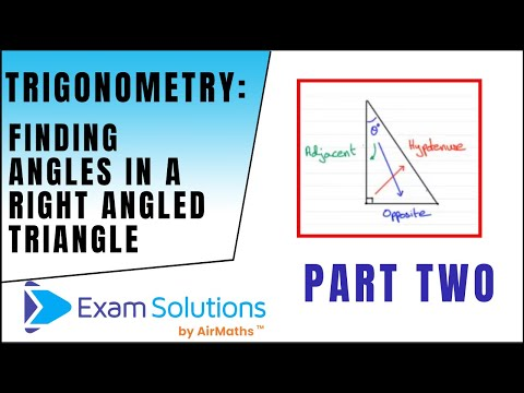 Trigonometrie - Finding ein: Right Angle Dreiecke: ExamSolutions Maths Made Easy